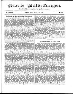 Neueste Mittheilungen vom 11.07.1890