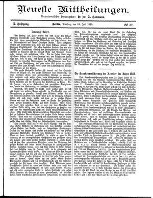 Neueste Mittheilungen vom 22.07.1890