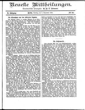 Neueste Mittheilungen vom 02.09.1890
