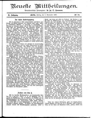 Neueste Mittheilungen vom 05.09.1890