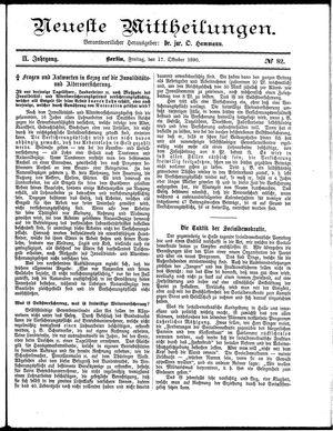 Neueste Mittheilungen vom 17.10.1890