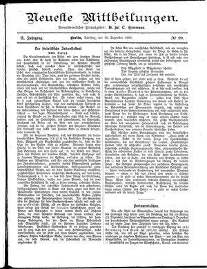 Neueste Mittheilungen vom 16.12.1890