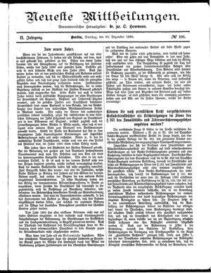 Neueste Mittheilungen vom 23.12.1890