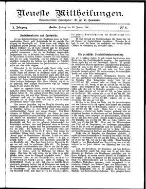 Neueste Mittheilungen vom 23.01.1891