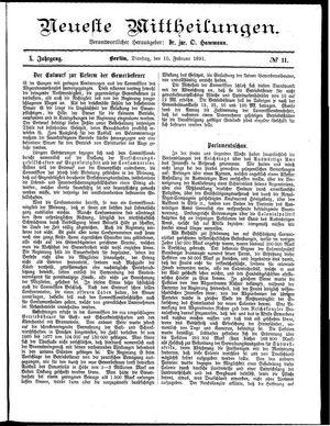 Neueste Mittheilungen vom 10.02.1891