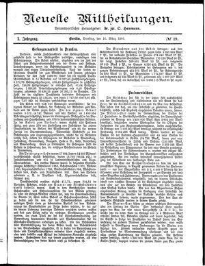 Neueste Mittheilungen vom 10.03.1891