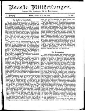Neueste Mittheilungen vom 01.05.1891