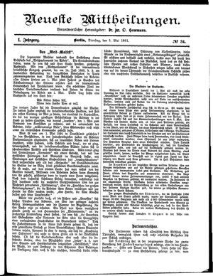 Neueste Mittheilungen on May 5, 1891