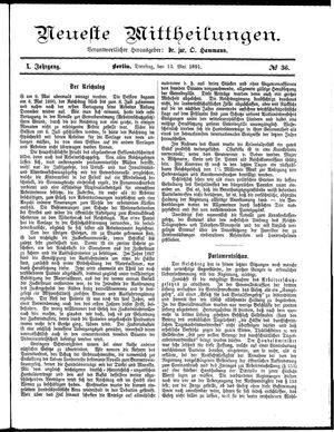 Neueste Mittheilungen vom 12.05.1891