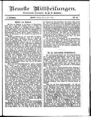 Neueste Mittheilungen vom 05.06.1891