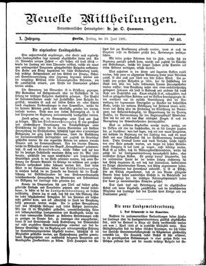 Neueste Mittheilungen on Jun 19, 1891