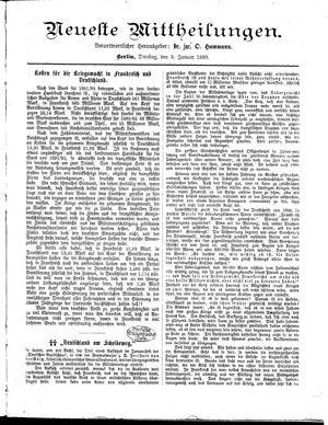 Neueste Mittheilungen vom 03.01.1893