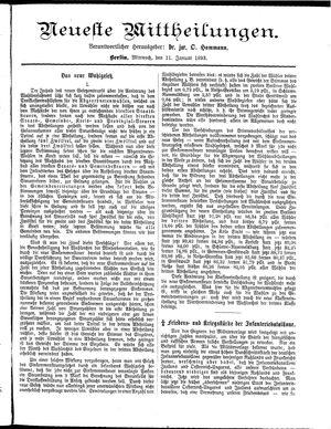 Neueste Mittheilungen vom 11.01.1893
