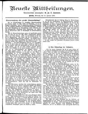 Neueste Mittheilungen vom 18.01.1893