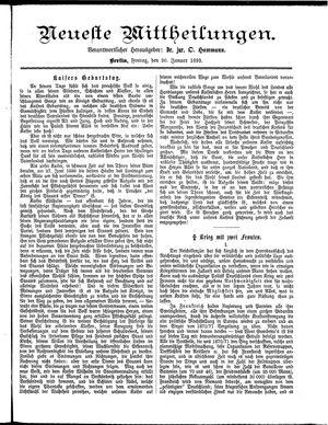 Neueste Mittheilungen vom 20.01.1893