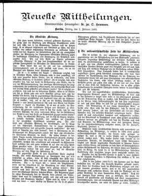 Neueste Mittheilungen vom 03.02.1893
