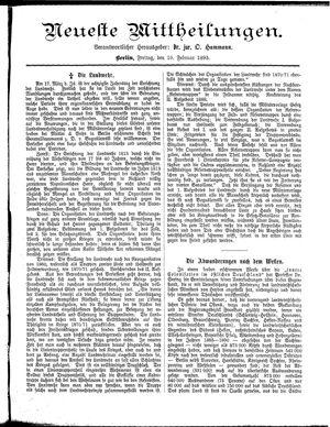 Neueste Mittheilungen vom 10.02.1893