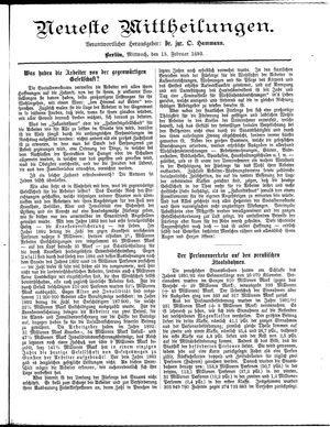 Neueste Mittheilungen vom 15.02.1893