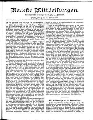 Neueste Mittheilungen vom 17.02.1893