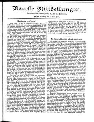 Neueste Mittheilungen vom 01.03.1893