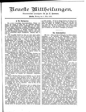 Neueste Mittheilungen vom 06.03.1893