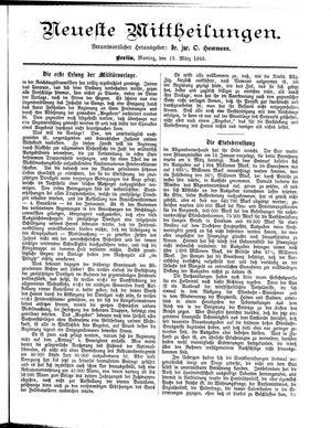 Neueste Mittheilungen vom 13.03.1893