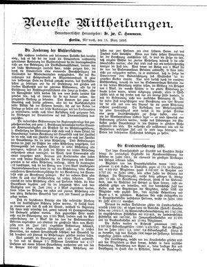 Neueste Mittheilungen vom 15.03.1893
