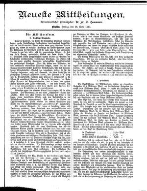 Neueste Mittheilungen vom 28.04.1893