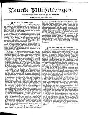 Neueste Mittheilungen on May 5, 1893