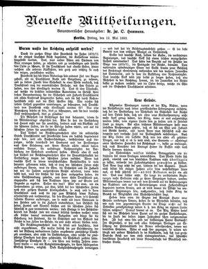 Neueste Mittheilungen vom 12.05.1893