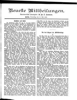 Neueste Mittheilungen vom 18.05.1893