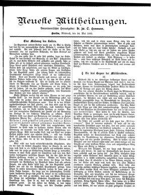 Neueste Mittheilungen vom 24.05.1893