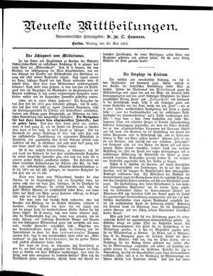 Neueste Mittheilungen vom 29.05.1893
