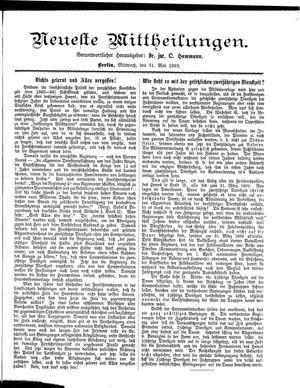 Neueste Mittheilungen vom 31.05.1893