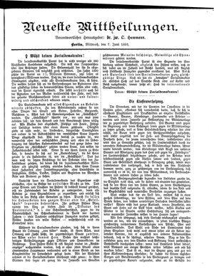 Neueste Mittheilungen vom 07.06.1893