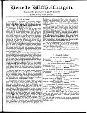 Neueste Mittheilungen vom 12.06.1893