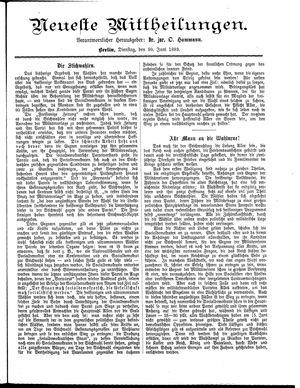 Neueste Mittheilungen vom 20.06.1893