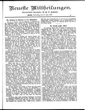 Neueste Mittheilungen on Jun 22, 1893