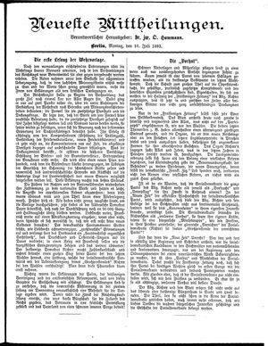 Neueste Mittheilungen vom 10.07.1893
