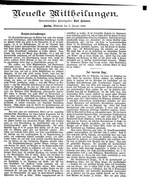 Neueste Mittheilungen vom 03.01.1894