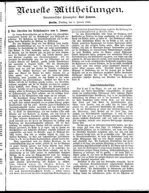 Neueste Mittheilungen vom 09.01.1894