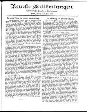 Neueste Mittheilungen vom 02.03.1894