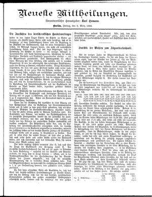 Neueste Mittheilungen vom 09.03.1894