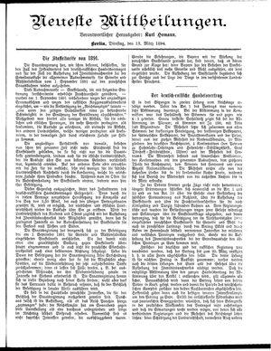 Neueste Mittheilungen on Mar 13, 1894