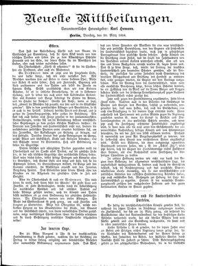 Neueste Mittheilungen vom 20.03.1894