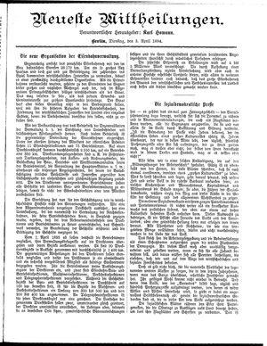 Neueste Mittheilungen on Apr 3, 1894