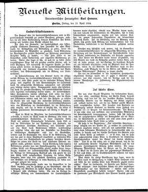 Neueste Mittheilungen vom 13.04.1894