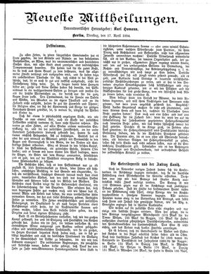 Neueste Mittheilungen vom 17.04.1894