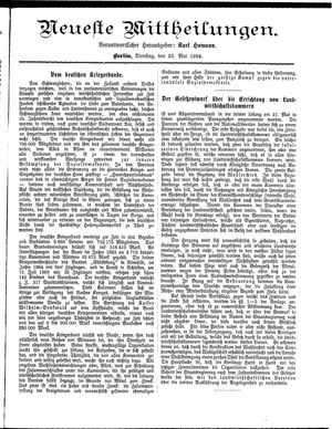 Neueste Mittheilungen vom 22.05.1894