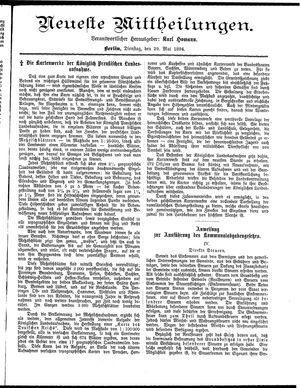 Neueste Mittheilungen vom 29.05.1894